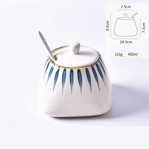 OSL Kreatives Keramikset, GewüRzglas ChiliöL-GewüRzdose Zuckerdose, KüChenzubehöR GewüRzglas im Japanischen Stil GewüRzglas/C