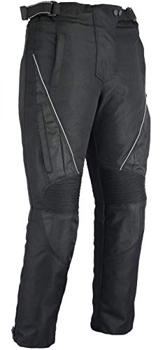 Jazz–Mujer Thermo–Pantalones de Motorista,–CE Protectores Impermeable–Negro Tamaño 38