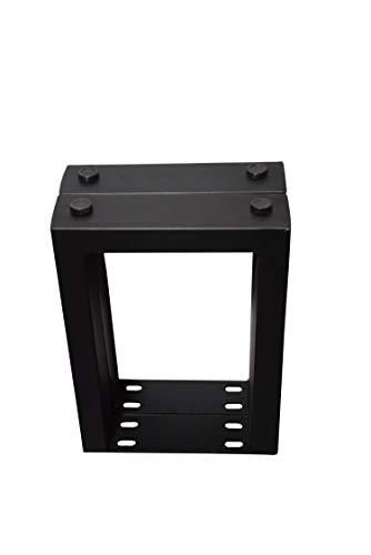 SAM Bankgestell, 2er Set, Roheisen schwarz lackiert, Kufengestell für Holzbänke, 41 x 30 cm