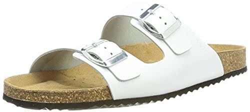 Geox D BRIONIA A, Slide Sandal Donna, Bianco, 39 EU