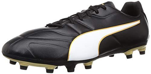 Puma CLASSICO C II FG, Herren Fußballschuhe, Schwarz (Puma Black-Puma White-Gold 1), 40.5 EU