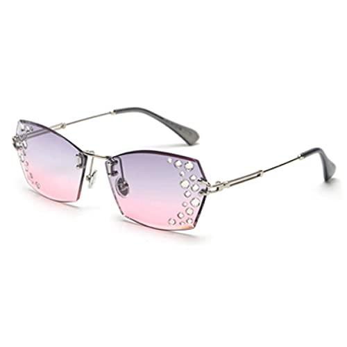 LUOXUEFEI Gafas De Sol Gafas De Sol Sin Montura Mujer Mujer Gafas De Sol Mujer Marrón