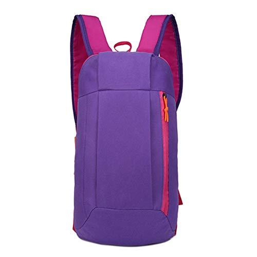 HGFDSA Sac À Dos Oxford Fashion Leisure Pure Color Backpack Sac De Voyage De Transport Léger Extérieur Utilisé pour La Course À Pied, La Randonnée,Le Cyclisme,Violet