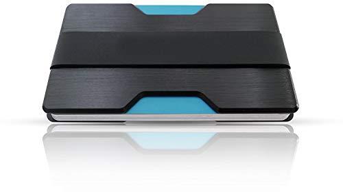 collexions Premium Kreditkartenetui mit Geldklammer | feinstes Aluminium | bis zu 14 Karten | minimalistische Geldbörse | Herren Kreditkartenhalter | slim wallet | RFID Schutz