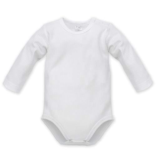 Pinokio - White - Bodys Bébé Garçon Fille Unisexe Baby Blanc 100% Coton Body Manches Longues Basic Collection 62 68 74 80 86 cm (74 cm, Blanc)