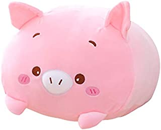 AIXINI 23.6 inch Cute Pink Pig Plush Stuffed Animal Cylindrical Body Pillow,Super Soft Cartoon Hugging Toy Gifts for Bedding, Kids Sleeping Kawaii Pillow