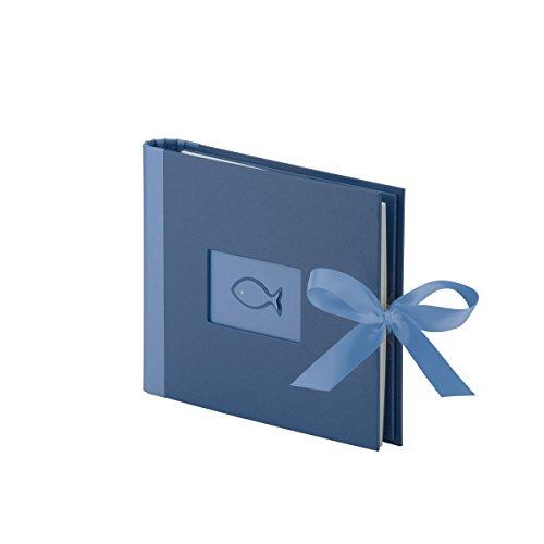Rössler 18776124008 - Kommunion/Konfirmation Gäste-Fotobuch mit Passepartout, 60 Seiten/215x170 mm - Saphire metallic