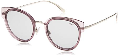 Polo 0PH3116 Gafas de sol, Wrap, 52, Transparente Pink