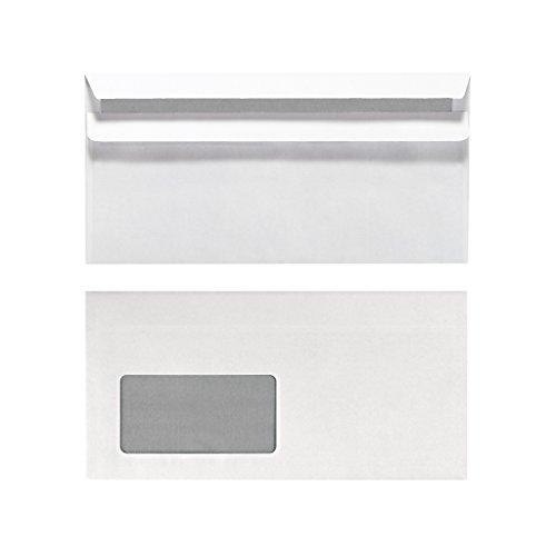Herlitz Briefumschlag DIN Lang Selbstklebend mit Fenster, 25 Stück mit Innendruck in Folienpackung, eingeschweißt, weiß