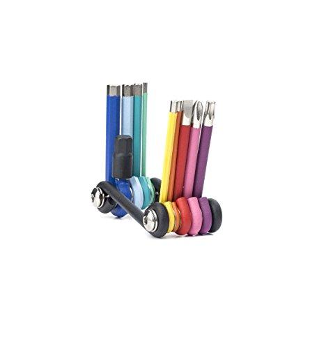 Kikkerland CD120 Rainbow Compact Multi Tool - Herramienta multiherramienta (7 herramientas en 1)