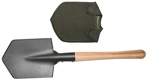 Feldspaten, Holzstiel, extra stabil, mit Tasche