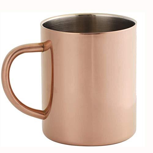 Taza de café de doble capa de acero inoxidable 304(Oro rosa)