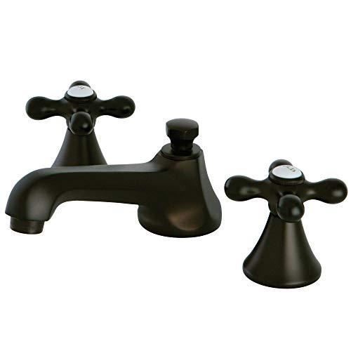 Kingston Brass KS4475AX 8u0022 Widespread Lavatory Faucet with Brass Pop-Up, 5-1/2u0022 in Spout Reach, Oil Rubbed Bronze