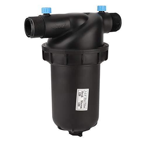 Filtro de riego para Agricultura de jardinería G1-1/4, Filtro de Disco de Rosca Macho G1-1/4, Filtro de Malla 120, Accesorios para Bomba de riego por Goteo