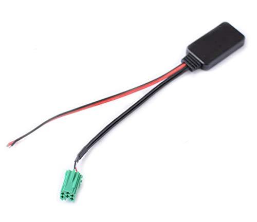 Cable auxiliar para radio de CD Mini ISO de 6 pines Bluetooth AUX para Renault