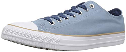 Converse Chuck Taylor All Star Color Blocked Low TOP Sneaker, Washed Denim/Khaki/White, 9 M US