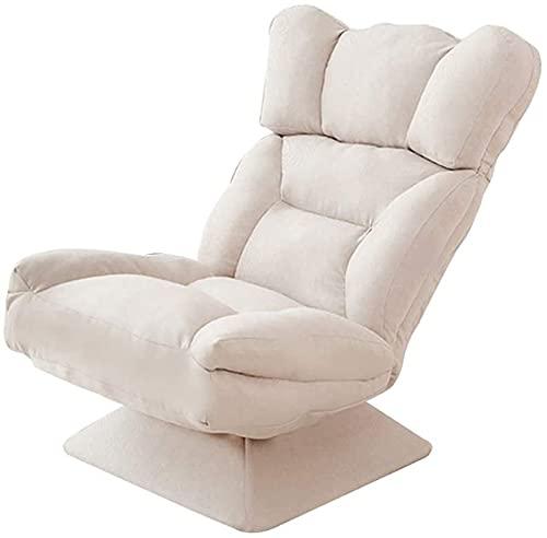 JJSFJH Silla de salón de sofá Perezoso con, sillón de sofá Cama Perezoso Individual, Silla de meditación Plegable de rotación de 360 ° con 5 Engranajes Respaldo Ajustable para Juegos de Lectura