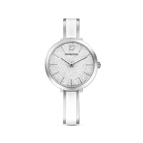 Swarovski Reloj Crystalline Delight, brazalete de metal, blanco, acero inoxidable