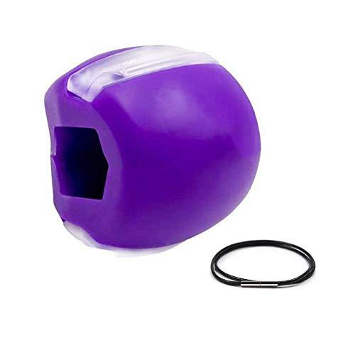 Jaw Ejerciler Ejercitador fitness bola cuello cara tonificación mandíbula (púrpura)