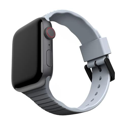 U by UAG [U] Aurora Correa de Silicona para Apple Watch 38mm / 40mm [Watch SE, Series 6 / Series 5 / Series 4 / Series 3 / Series 2 / Series 1, Silicona Suave, Hebilla de Acero Inoxidable] Soft Azul