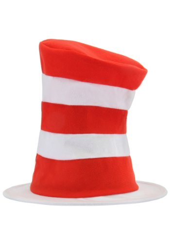 Dr. Seuss Cat in The Hat Tricot Stovepipe Costume Hat for Kids Red