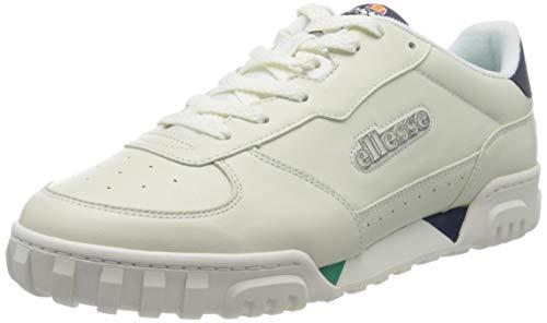 ellesse Herren Tanker Lo Sneaker, Mehrfarbig (Off White/Dark Blue/Green Off Wht/Dk Blu/Grn), 46 EU