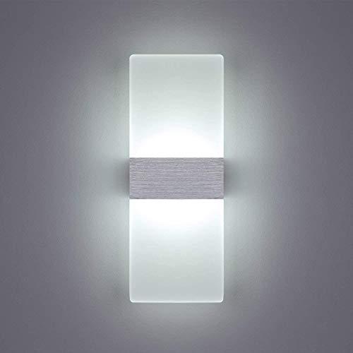 ERWEY Applique Murale LED 6w Applique Murale Intérieur Lampe Murale Acrylique Blanc Froid Eclairage Décoratif pour Maison Chambre Escalier Couloir