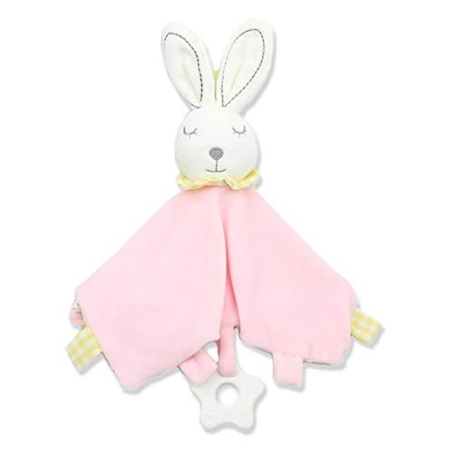 N\C Bebé felpa juguetes de dibujos animados conejo gato animales calmante toalla para bebé bebé suave comodidad toalla appease muñecas recién nacido dormir juguetes S