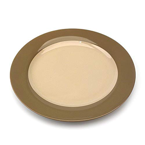 BINGFANG-W Cake Plates Dinner Platesplate Ceramic Tableware_Quality Featured Flat Plate Hotel Ceramic Tableware Plate Ceramic Tableware, W93W92T63/Coffee, 9 Inch Flat Plate Kitchen