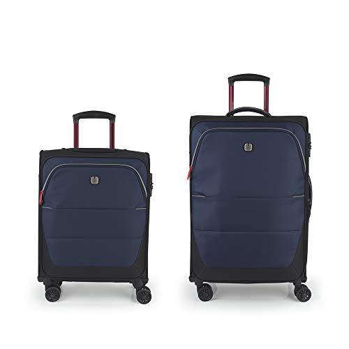 Gabol - Concept   Juego de Maletas de Viaje de Color Azul con Trolley de Cabina y Trolley Mediano