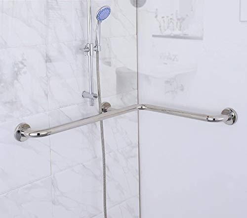 brazo FHW Pasamanos, Acero Inoxidable apoyabrazos Esquina Accesibilidad Seguridad reposabrazos WC Antideslizante Mango 🔥