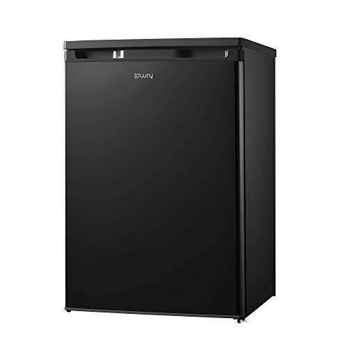 Lowry LUCFZ55B 55cm Wide Under Counter Freezer Black, Suitable for Outbuildings & Garages, 83 Litres, 1 Year Guarantee