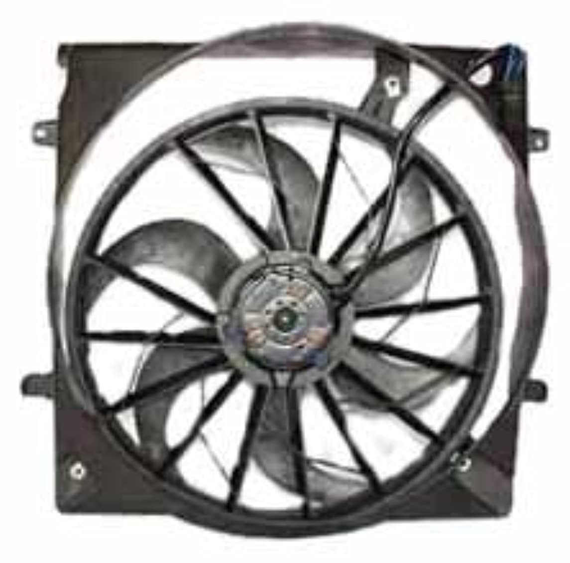 TYC 621560 Jeep Liberty Replacement Radiator/Condenser Cooling Fan Assembly