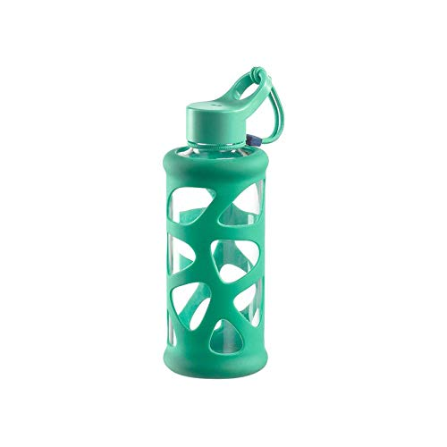 Leonardo Trinkflasche In Giro 500 ml, To Go, Borosilikatglas, Schutzhülle, spülmaschinenfest, stoßfest pink, 028376