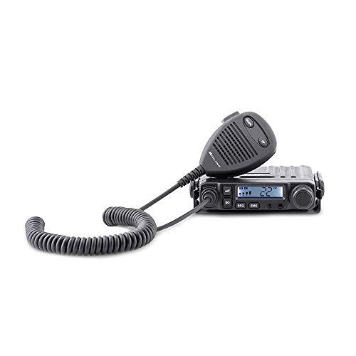 Midland M-Mini CB Radio Ricetrasmittente Veicolare Auto Multi Banda 40 Canali AM/FM, Compatto con Microfono e Presa 2 Pin Midland per Adattatore Bluetooth, con Canale di Emergenza