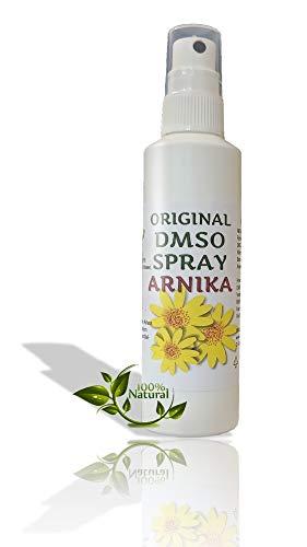 Leivys Arnika DMSO Spray Dimethylsulfoxid 99,99% Reinheit in HDPE Sprayflasche bequeme Anwendung, effektive Wirkung 100 ml