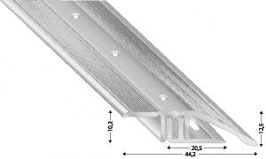 F/ür B/öden 7-15 mm Fussboden Anpassungsprofil 270cm silber eloxiert
