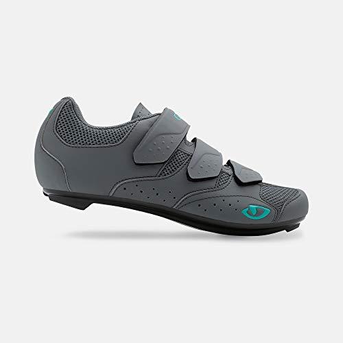 Giro Techne W Womens Road Cycling Shoe − 39, Titanium/Glacier (2020)