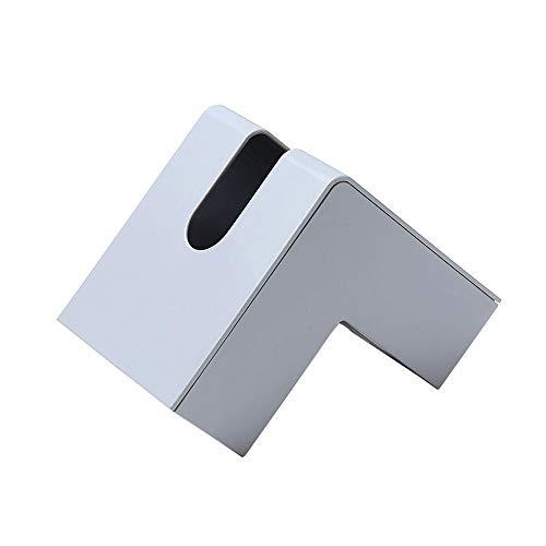 Lpiotyuzjh Caja De Pañuelos Caja de pañuelos Creativo Creativo de Esquina no poroso Sala de Estar Mesa de Almacenamiento de Mesa pública plástico Simple (Gris Claro, Blanco) (Color : Gray)