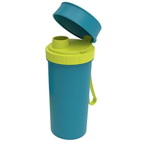 Rotho Trinkflasche 0.4 l, Kunststoff (BPA-frei), Blau, 0,4 Liter (7,6 x 7 x 16,5 cm)