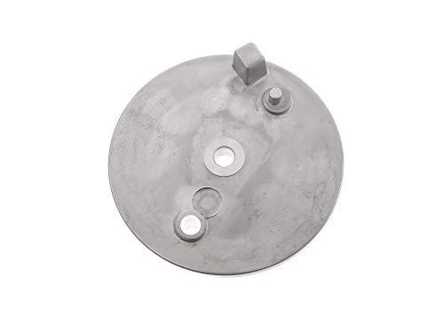 MZA Bremsschild hinten - natur - ohne Loch f. Bremskontakt - S51, S70, S53, S83, KR51/2