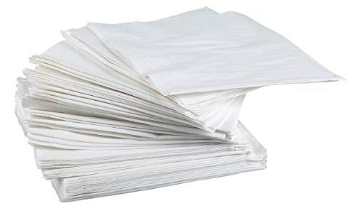 Publi Embal - Lot De 100 Serviettes 30X30 2Plis - Blanc