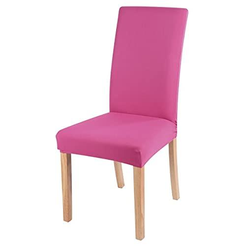 Fodera per sedia in velluto liscio, 2/4/6 pezzi, misura universale, retrattile, coprisedile, sala da pranzo 4 pezzi rosa rossa