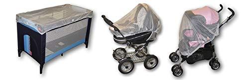 reer Universal Insektenschutz, passend für Kinderwagen, Buggys, Sportwagen, Reisebetten, weiß