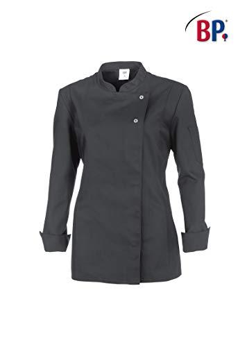 BP 1544-684-57-2XL Kochjacke für Frauen, Lange Ärmel mit Manschetten, 200,00 g/m² Stoffmischung mit Stretch, grau ,2XL
