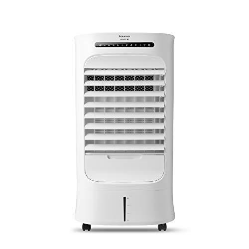 Taurus Snowfield Ultra – Climatizador evaporativo, aire acondicionado portátil, ventila, refresca, humidifica, 3velocidades, 3modos, temporizador, depósito 10l, control remoto, 2hielos