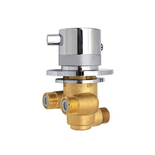 G1/2 Salida Unidireccional Control Temperatura Válvula Mezcladora Interruptor Desvío Grifo Ducha Termostático...