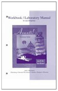 Workbook/Laboratory Manual t/a Avanti