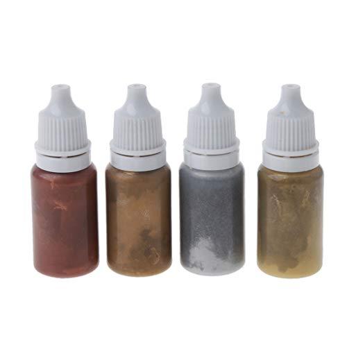 VIccoo DIY Schimmel, 4 Farben Epoxidharz Farbstoff Glitter Marmor Metallic Pigment Resin Schmuck DIY - B