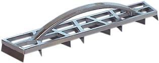 Haromac 18300500 Rabot à plâtre en aluminium avec 8 lames 450 x 85 mm